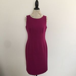Le Suit Separates Magenta Sheath Dress Size 8